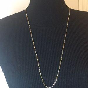 "Danecraft 24K Gold over Silver Necklace 30"" long"
